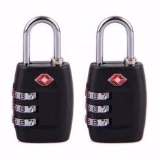 Toko Tsa Lock Luggage Locks 3 Dial Code Padlock For Travel Suitcase Gembok Koper Tas 2 Pcs Lengkap