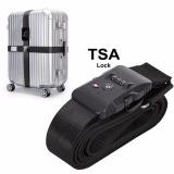 Jual Tsa Luggage Strap Travel Luggage Strap Dengan 3 Dial Tsa Kunci Yang Disetujui Adjustable Suitcase Sabuk Sabuk Belt Travel Tag Untuk Keamanan Bandara Dan Klaim Bagasi Identifikasi Intl Import