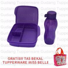 Tupperware Eco Lolly Gliiter 1 pasang Ungu + Gratis Tas Bekal Belle