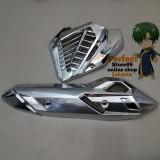 Review Tutup Cover Knalpot Radiator Vario 150 Vario 125 Led Chrome Pf89 Di Dki Jakarta