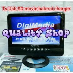 tv LED ondash DIGIMEDIA 9,5 inch usb sd mp4 playback plus baterai charger