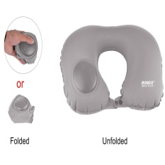 Harga U Shape Automatic Pneumatic Inflatable Portable Travel Pillow Asli