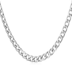 U7 45.72 Cm Fashion Kalung Rantai Stainless Steel (putih)