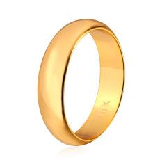 U7 18 KB Nyata Emas Berlapis Dua Cincin With Band Sederhana 18 KB Cap Fashion Wanita/Pria Sempurna Aksesoris Perhiasan (Emas)
