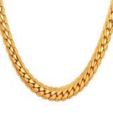 Harga U7 55 88 Cm Panas Klasik 18 Karat Asli Berlapis Emas Kalung Rantai Emas Internasional Murah