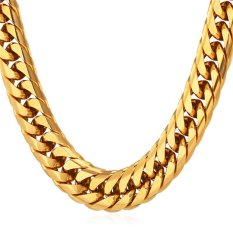 Toko U7 76 2 Cm Gaya Amerika Chunky 18 Karat Asli Berlapis Emas Rantai Kalung Fashion Pria Berandalan Hadiah Aksesoris Perhiasan Emas Terlengkap Di Dki Jakarta