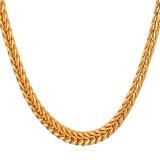 Beli U7 55 88 Cm Buntut Rubah Franco Rantai 18 Kb Nyata Emas Berlapis Kalung Emas Tiongkok