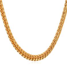 Ulasan Mengenai U7 55 88 Cm Buntut Rubah Franco Rantai 18 Kb Nyata Emas Berlapis Kalung Emas