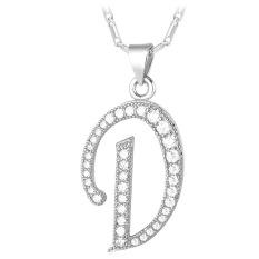 Harga U7 Abjad D Awal Pasangan Kalung Kubik Zirkonia Berlapis Platinum Fashion Wanita Pria Hadiah Perhiasan Platinum Dan Spesifikasinya
