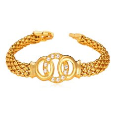 Ulasan Lengkap U7 Berlian Buatan Austria 18 Kb Emas Berlapis Gelang Emas