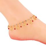 Ulasan U7 Kaki Pantai Romantis Rumbai Rantai Hati Hadiah Perfect Way 18 Kb Nyata Emas Bersalut Berlian Imitasi Wanita Gelang Kaki Merah