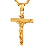 Beli U7 Salib Yesus Salib Liontin Kalung Fashion Aksesoris Perhiasan Agama 18 Kb Nyata Emas Berlapis Hadiah Sempurna Emas Kredit Tiongkok