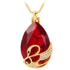 Beli U7 Perhiasan Kristal 18 Kb Emas Berlapis Batu Tetesan Air Imitasi Kalung Hadiah Romantis Pasangan Swan Merah U7 Dengan Harga Terjangkau