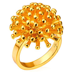 U7 Cute Ball Ring 18 K Gold Plated Women (Emas)