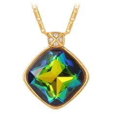 U7 Penggemar Batu Liontin Kalung untuk Wanita, China 18 Karat Asli Berlapis Emas Perhiasan Fashion Mewah Pesta Hadiah (Hadiah)