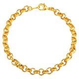 Spek U7 Fashion Chain Bracelet Jewelry 18 K Emas Emas Disepuh Aksesoris Emas