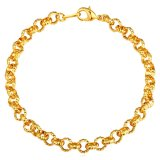 Toko U7 Fashion Chain Bracelet Jewelry 18 K Emas Emas Disepuh Aksesoris Emas U7 Di Tiongkok