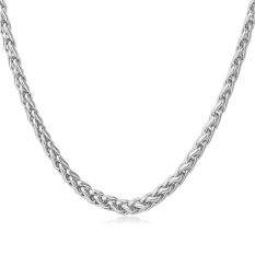 U7 Fashion Rantai Kalung untuk Pria/Wanita Besi Tahan Karat Perhiasan Pria Aksesoris (Putih)