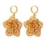Toko U7 Anting Bunga Baru Trendi 18 Kb Nyata Emas Perhiasan Berlapis Lubang Tanaman Anting Desain Untuk Wanita China Emas Termurah Tiongkok