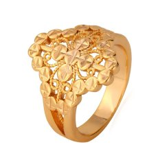 U7 Berlapis Emas Mayat dengan Kata '18 KB' Cap Wanita Pesta Perhiasan Pernikahan Geometris