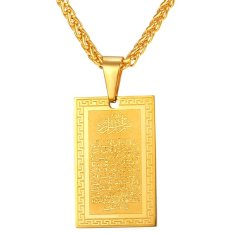Jual U7 Pembacaan Liontin Kalung 18 Kb Nyata Emas Berlapis Fashion Perhiasan Aksesoris Keagamaan Orang Hadiah Sempurna Emas Termurah