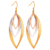 Beli U7 Multi Tone Gold Women Drop Earrings Multicolor Pake Kartu Kredit