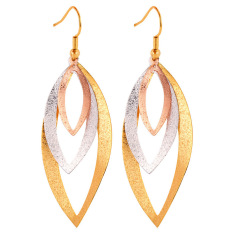 Spesifikasi U7 Multi Tone Gold Women Drop Earrings Multicolor Merk U7