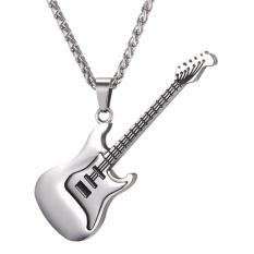 U7 Rock Electric Gitar Liontin Kalung 18 K Emas Emas Disepuh/Stainless Steel Fashion Pria