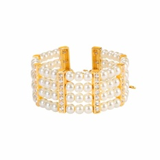 Tips Beli U7 Romantic Pearl Jewelry Tennis Bracelet For Women Fashion Gold Plated High Quality Synthetic Pearl Perfect Party Jewelry For Women Gold Intl Yang Bagus
