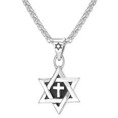 Katalog U7 Dari Bintang David Liontin Kalung Salib Stainless Steel Pria Fashion Aksesoris Perhiasan Hadiah Sempurna Perak Terbaru