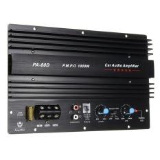 UINN 12 V 1000 W Amplifier Papan Audio Power Amplifier Bass Yang Kuat Subwoofer PA-80D Hitam-Intl