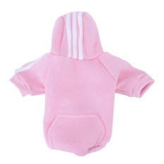 Uinn Casual Pet Clothing Small Dogs Elastic Puppy Supplies Two Feetsports Hoodie Pink Xl - intl