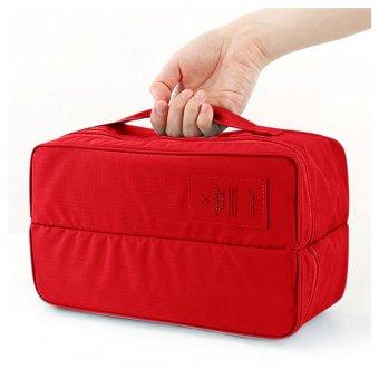 Harga preferensial Ultimate Organizer Multifungsi Sepatu/ Baju/ Toiletries Travel / Shoes Bag Multifungsi TS-02 - Maroon beli sekarang - Hanya Rp50.510