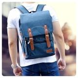 Ultimate Polo Backpack Korean Pria Wanita 838 Tas Ransel Laptop Kanvas Kualitas Ori Import Blue Di Indonesia
