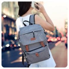 Ultimate Tas Pria Wanita 839 - Gray / Backpack Anak Cewek Sekolah Remaja Korea Import  Batam Murah Branded Cantik / Ransel Laptop Perempuan