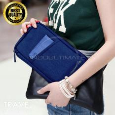 Ultimate Premium 10 in 1 Travelus Dompet Pasport/Multi function Travel Bag Passport ID Card/Passport Holder PW 55-03 - Dark Blue
