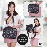 Jual Ultimate Tas Laptop Double Foot Print 14 Inch Black Softcase Wanita Cewek Korea Import Murah Branded Ultimate