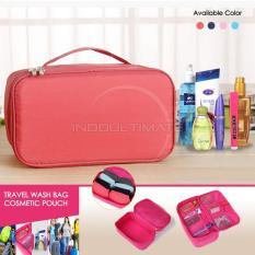 Perbandingan Harga Ultimate Tas Kosmetik Multifungsi Susun Cosmetic Organizer Pouch Cosmetic Pouch 2 Flats Import Or 32 02 Peach Di Indonesia