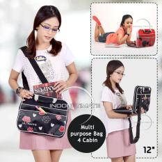 Ultimate Tas Laptop Double MickeyPants 12 Inch - Black / Softcase Wanita / Cewek Korea Import Murah Branded
