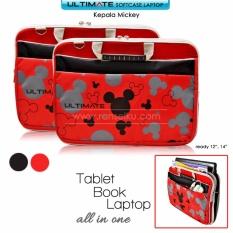 Harga Ultimate Tas Bag Cover Softcase Backpack Laptop Pria Wanita Triple Mickey 14 Inch Red Jawa Timur