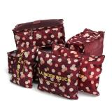 Promo Ultimate Travel Bag 6In1 Organizer Motif Or 60 02 Organizer Space Koper 1 Set Flowers Maroon Akhir Tahun