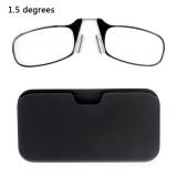 Cara Beli Ultra Thin High Definition Hidung Istirahat Gaya Kartu Portable Presbyopic Hypermnesia Kacamata Baca 1 50D Hitam