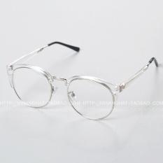 Diskon Ulzzang Wild Transparent Retro Plain Glasses Frame Metal Frame Branded