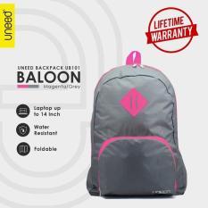 Harga Uneed Balloon Tas Ransel Pria Universal Backpack For Tablet 7 Inch Water Resistant Ub101 Grey Magenta Merk Uneed