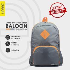 Harga Uneed Balloon Tas Ransel Pria Universal Backpack For Tablet 7 Inch Water Resistant Ub101 Grey Orange Murah