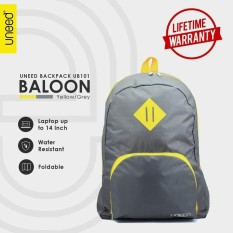Uneed Balloon Tas Ransel Pria Universal / Backpack for Tablet 7 inch - Water Resistant UB101 – Grey/Yellow