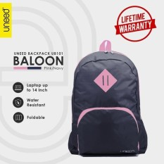 Jual Uneed Balloon Tas Ransel Pria Universal Backpack For Tablet 7 Inch Water Resistant Ub101 Navy Pink Import