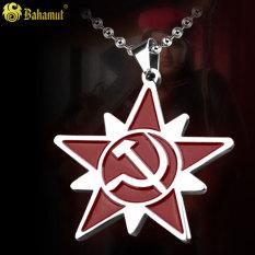 Spek Uni Soviet Karakter Permainan Sekeliling Logo Kalung Liontin