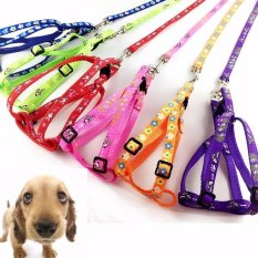 Unipet - Harness Harnes Tali Leash Rompi Anjing Kucing Hot New Small Dog Pet Puppy Cat Adjustable Nylon Harness with Lead leash - Merah