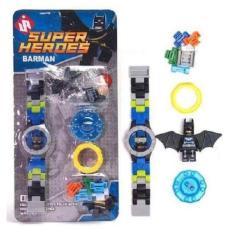 Spek Uniq 545 Aws Jam Tangan Anak Bongkar Pasang Model Lego Batman